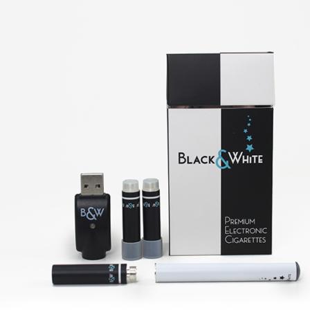 BLACK&WHITE PREMIUM E-CIGARETTE Starter kit - Tobacco flavour - USB Re-chargeable